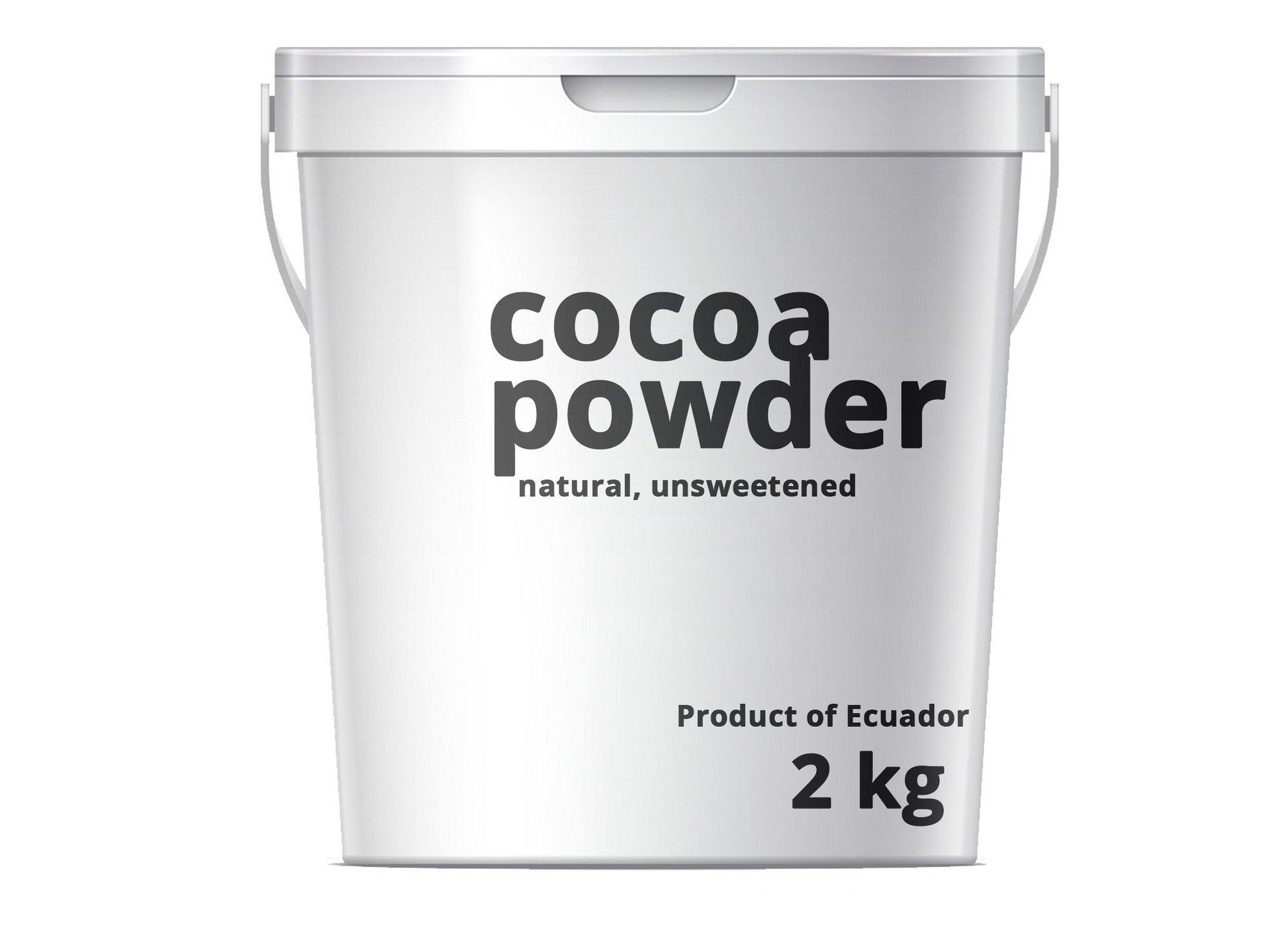Cocoa Cacao Powder Kakaopulver Natural 10/12% 2kg Arriba Ecuador