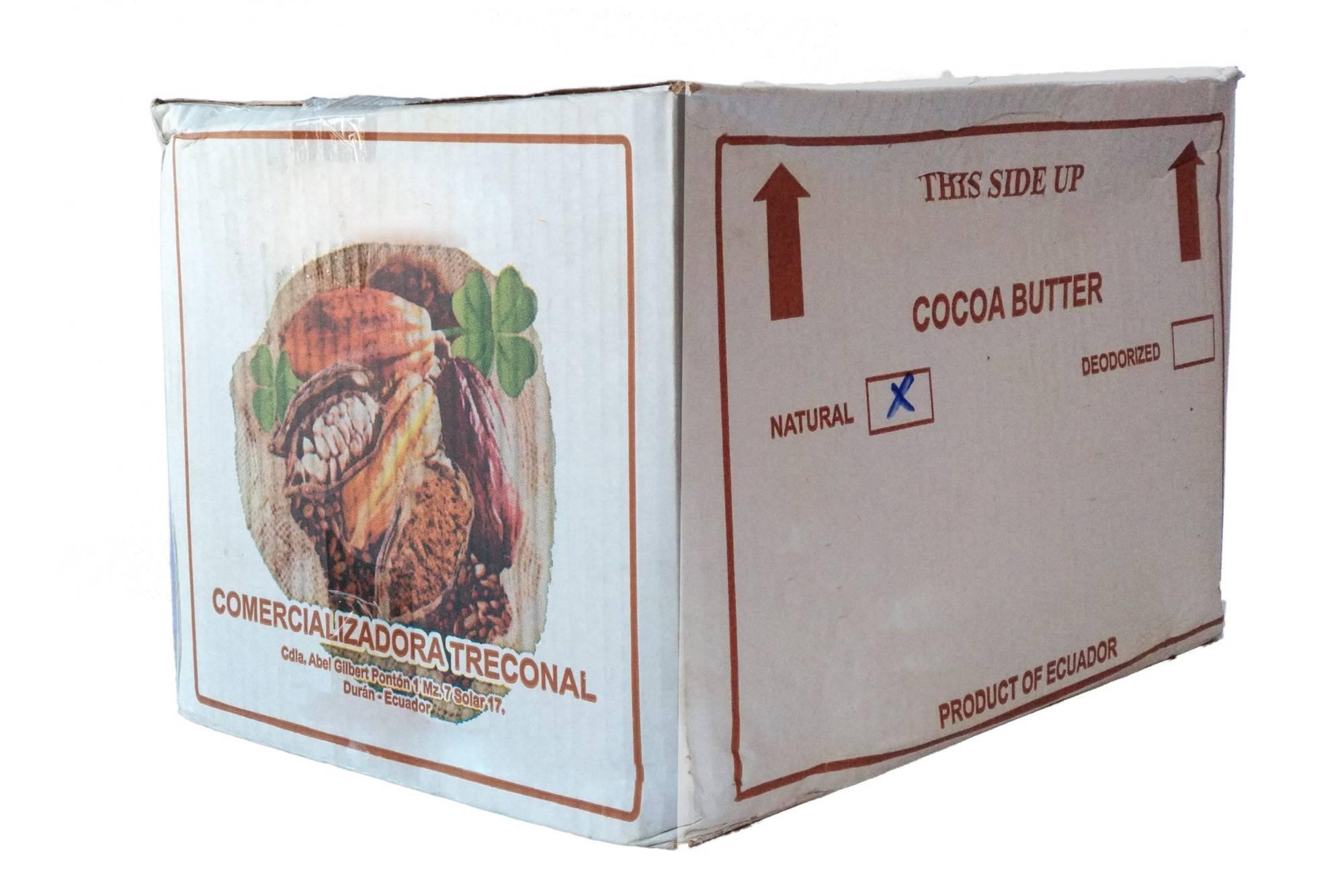 Naturalne Masło Kakaowe Nierafinowane 25kg Ekwador
